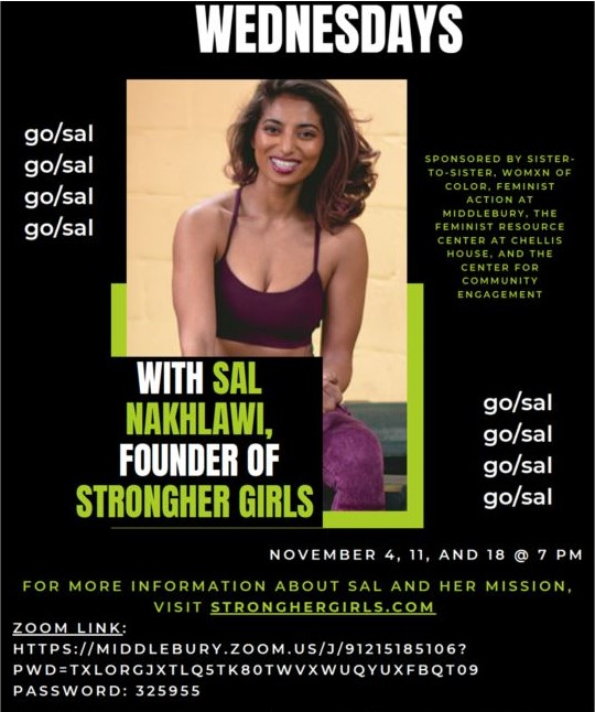 Workout Wednesdays with Sal Nakhlawi '19, Founder of StrongHER Girls